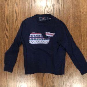 Vineyard Vines Boys Whale Fairisle Sweater
